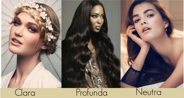 Color de cabello para piel neutra