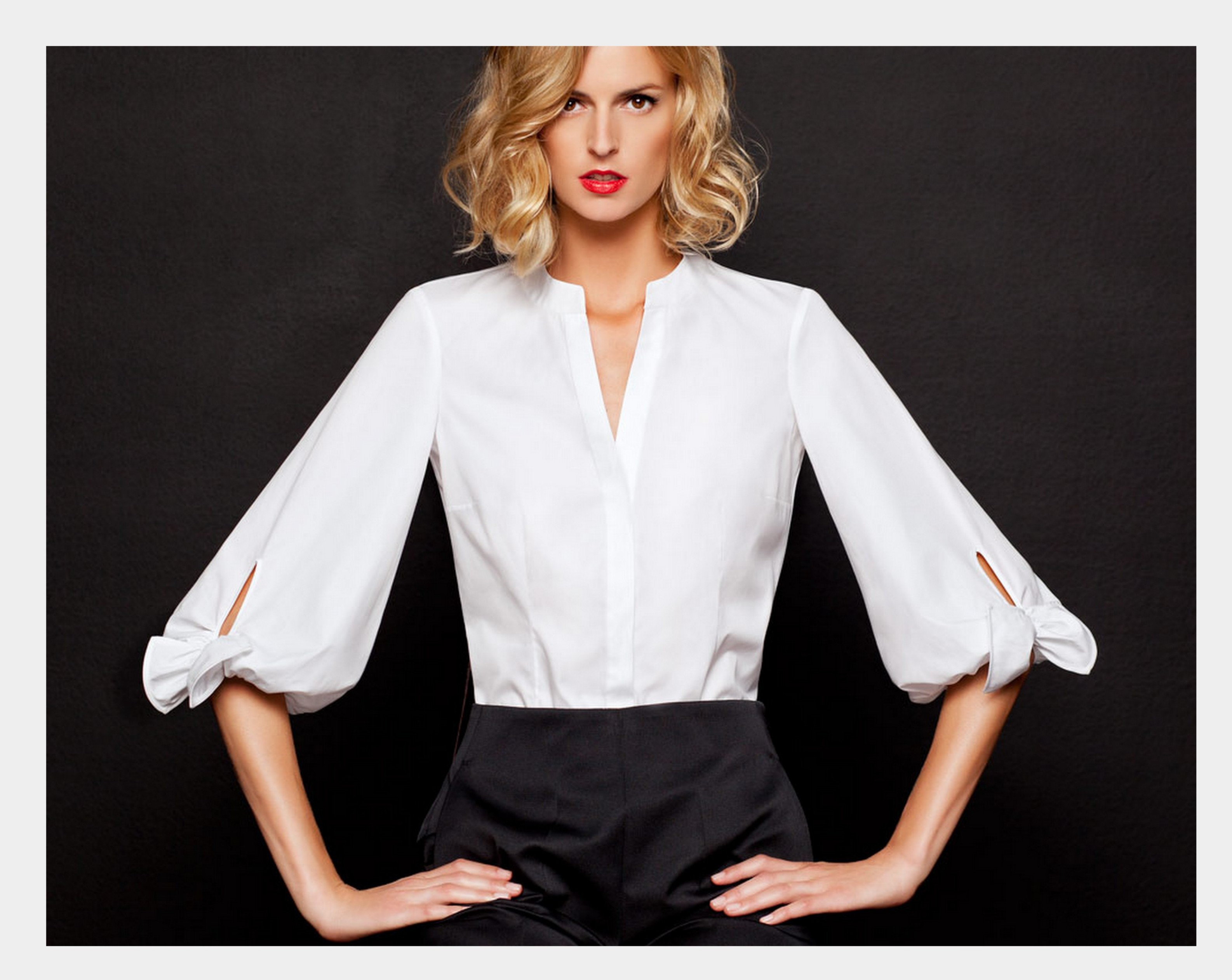 Image result for blusa blanca mujer oficina