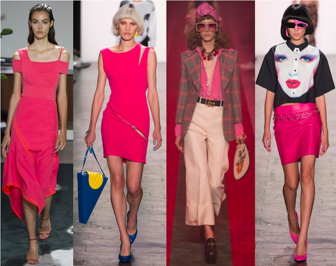 Pink Yarrow: JJason Wu, eremy Scott, Gucci, Jeremy Scott SS17