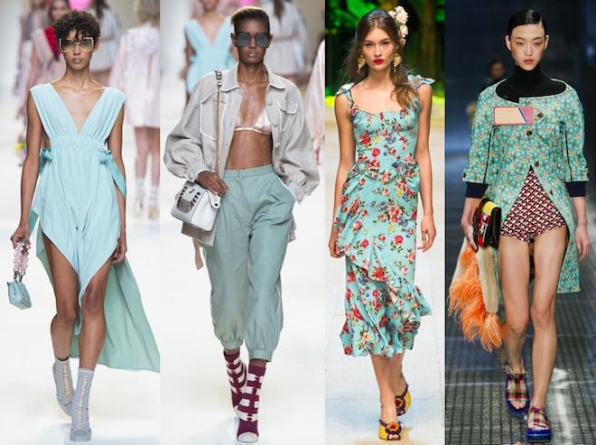Island Paradise: Fendi, Fendi, Dolce&Gabbana, Prada SS17