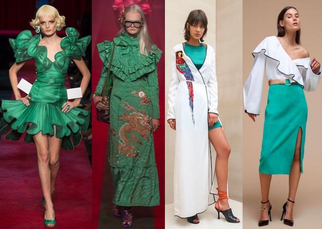 Greenery: Moschino, Gucci, Attico, Diane Von Fustemberg SS17